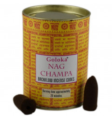 Box of 24 incense cones Backflow Goloka Nag Champa - Natural Indian Incense