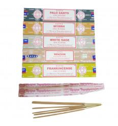 Bouquet Purification - Assortiment d'encens SATYA 5 parfums - lot de 60 bâtons