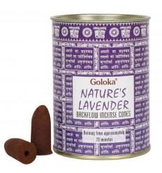 Scatola di 24 coni di incenso Ritorno goloka lavanda - Indiano Incenso Naturale