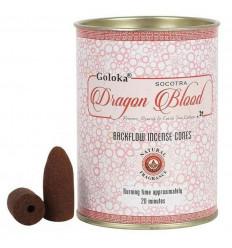 Scatola di 24 coni di incenso Backflow Goloka Dragon Blood - Incenso indiano naturale