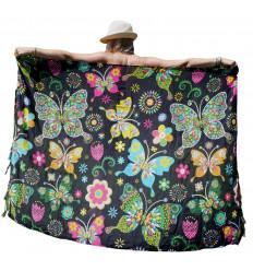 Pareo Motivo Multicolore Farfalle & Fiori - 160x110cm