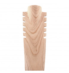 Bust display necklaces, serrated solid wood gross H40cm
