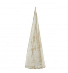 Bracelets and Watches Display Cone Shape White Wood 20cm