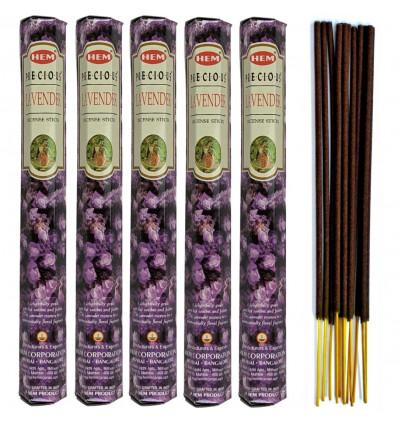 Incense Lavender Precious. Lot of 100 sticks brand HEM