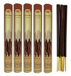 Lot 100 bâtonnets d'Encens Indien Naturel Cannelle (Cinnamon) HEM
