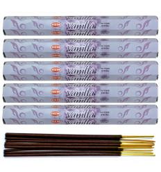 Lot 100 bâtonnets d'Encens Indien Naturel Vanille (Vanilla) HEM