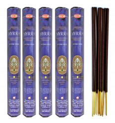 Lot 100 bâtonnets d'Encens Indien Naturel Myrrhe (Myrrh) HEM