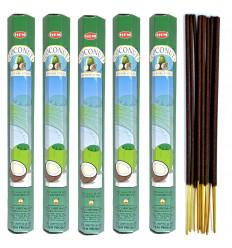 Incense Coconut pack of 100 sticks brand HEM