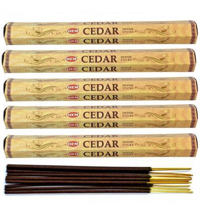 Incense fragrance Cedar. Lot of 100 sticks brand HEM