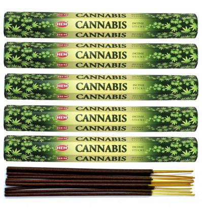 Lot 100 bâtonnets d'Encens Indien Naturel Cannabis HEM