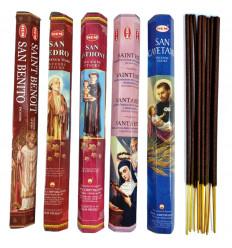 Encens des Saints Protecteurs. Assortiment de 5 variétés (100 bâtons), marque HEM.