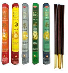 """Assortiment d'encens - Bouquet """"Feng Shui"""" (5 parfums). Lot de 100 bâtons marque HEM"""