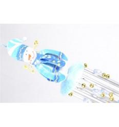 Carillon Bonhomme de Neige en fer forgé - Artisanat de Noël