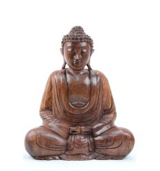 Buddha Statue sitting in a lotus position h40cm Wooden carved hand