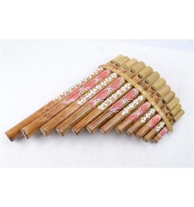 Pan Flauto di bambù (grand modele) Strumento musicale o di un oggetto deco !