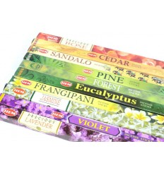 Assortiment d'encens - Bouquet Boisé / Floral 10 parfums. Lot de 80 bâtonnets marque HEM.